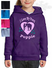 HORSE RIDING PERSONALISED GIFT HOODIE *Glitter Stars* GIRL & PONY IN SIDE HEART