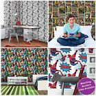 MARVEL COMICS WALLPAPER AND BORDERS SPIDERMAN HULK + MORE BOYS BEDROOM FREE P+P