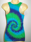 LADIES TIE DYE DYED HIPPY RACER BACK SINGLET / TANK TOP BY SUPRE SIZES M & L