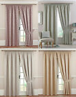 Symphony Swanley Tape Top Ready Made Lined Curtains Abstract Contemporary Design