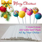 100/200/500 WHITE LOLLIPOP ICE LOLLY STICKS KIDS ARTS CRAFT MODEL CAKE POPS TOOL