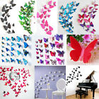 Newest 3D Butterfly Art Decal Home Decor PVC Butterflies Wall Stickers 12pcs set