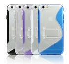 Apple iPhone 6 Plus S-Line TPU Back Cover With Kick Stand - iPhone 6 Plus