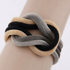 Women Knitted Temperament Compilation Wrap Crossover Charm Bracelet Bangle Chain