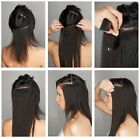 UK Clip in Hair Extensions Half Full Head One Piece Synthetic brown black blonde