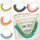 Womens/Lady Fashion Bib Necklace Crystal Resin Statement Chunky Collar Jewelry