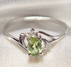 Genuine Green Peridot .925 Sterling Silver Ring -- PD858