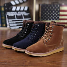 Fashion Men's Winter Warm Short Snow Boots Ankle Flat Casual Martin Boots Shoes