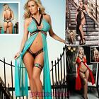 Babydoll donna chemise lunga abito perizoma sexy lingerie nuovo DL-1187