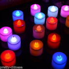 10/ 20PCS Flameless Colorful Led Candle Light Wedding Party Tea Light Flickering