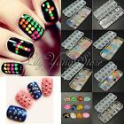 3D Ongles Nail Art Strass Cristal Glitters Rivers pour Conseils Manucure Sticker