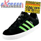 Adidas Originals Infants Kids Gazelle Suede Leather Trainers Black * AUTHENTIC *