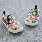 Kids Canvas Shoes Boys Cartoon Sneakers Baby Toddler Slip-On Casual Shoes A81