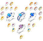 Lovely Colorful Fashion & Vintage Ring For Women Elegant Costume Jewelry US