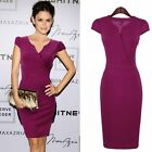 Women Celebrity Vintage Tunic Prom Cocktail Party Evening Mermaid Midi Dress