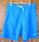 Under Armour Men's Loose Fit Takahimi Blue Boardshorts Swim Trunks 1235656 487