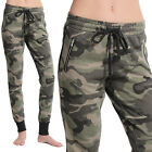 TheMogan Casual Ladies Camouflage Army Jogger Pants