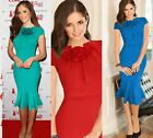 Womens Celebrity Cocktail Party Evening Bodycon Fitted Mermaid Pencil Dress