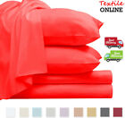 Flat Sheet Plain Dyed Poly-Cotton Bed Sheet Single Double King & Super King Size