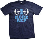 1 More Rep- Barbell- Work Out Weight Lift Awesome Exercise Shirt! Mens T-shirt
