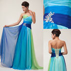2015 New Women Colorful Long Formal Evening Bridesmaid Bridal Prom PARTY Dresses