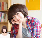 New Women's Girll's Short Curly Wavy Hair Full Wig Cosplay Party Cute 3 Color