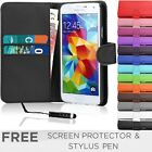 Leather Flip Wallet Case Cover For SAMSUNG Galaxy S5 i9600