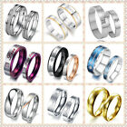 Promise Stainless Steel Wedding Bands Comfort Fit Engagement Ring For Couple US