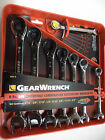 Gear Wrench 8-Piece Reversible Ratcheting Combination Wrench Set - SAE OR METRIC