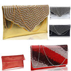 Ladies Designer Leather Style Celebrity Clutch evening ball pram bag night out