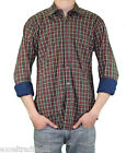 STEVEN ALAN Red & Forest Green Plaid Jersey Lined Reverse Shirt MST31CT NWT $225