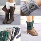 Newest Lady's Knitted Trim Boot Cuffs Toppers Leg Warmers Flanging Socks