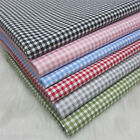 Checked 100% Cotton Twill Fabric 160cm Wide Per Meter