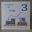 Handmade Personalised Boys Train Birthday Card 1st 2nd 3rd 4th 5th 6th Other