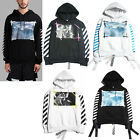 New Off White C/O Virgil Abloh 13 Religion Skull Sea Wave Angel Hoodie Sweats