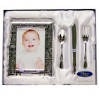 Personalised Engraved My Christening Day Frame & Cutlery Gift Set Box