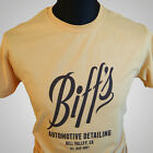 BIFFS AUTOMOTIVE DETAILING T SHIRT BACK TO THE FUTURE II BIFF TANNEN RETRO COOL