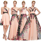 2015 Summer Long Wedding bridesmaids Floral Dresses Prom Evening Party Ball gown