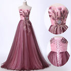 Embellished A-Line Formal Evening Masquerade party Wedding Prom Dress Size 6-20