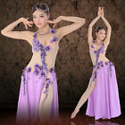 Professional Belly Dance Performance Costume Gorgeous Mesh one-piece Dress
