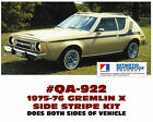 QA-922 1975-76 AMC - AMERICAN MOTORS - GREMLIN X - SIDE STRIPE DECAL