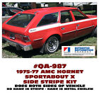 QA-987 1975-77 AMC - AMERICAN MOTORS - HORNET SPORTABOUT X - STRIPE DECAL