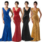 Long Gold Blue Black+ Full Length Sequin Fishtail Maxi Party Prom Evening Dress