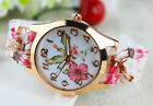 Fashion Stainless Steel Luxury Flower Quartz Girl Women Ladies Wrist Watch image