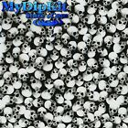 Hydrographics Film Water TransferHydro Dip Small Black & Clear Skulls LL-61-FILM
