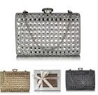 Ladies Women's Night Out Evening Classy Clutch Bag Crystal Diamante Prom Ball