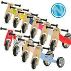 Mini Toddler Wooden Trike Tricycle Bike Blue Pink Yellow Red Green Unicorn Car