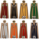 Warrior Classic 1/2 Inch Mod Skinhead Fully Adjustable Braces Lots of Colours