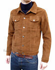 Mens NEW Jacket Coat Ginger Brown Tobacco Corduroy indie mod retro vtg Cord 70's
