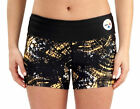 Pittsburgh Steelers Black Gold Allover Thematic Booty Yoga Running Shorts NFL